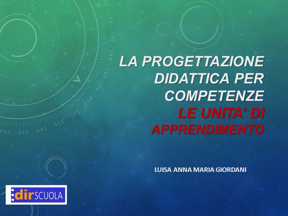 La progettazione didattica per competenze LE UNITA' DI APPRENDIMENTO