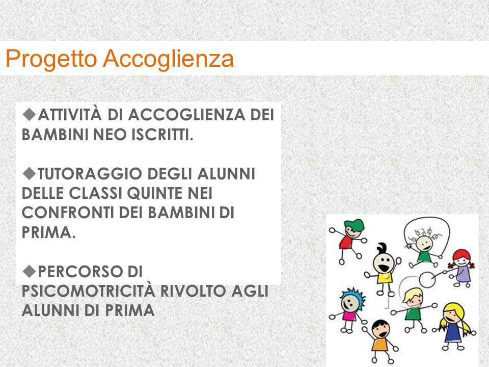 Progetto Accoglienza ATTIVITÀ DI ACCOGLIENZA DEI BAMBINI NEO ISCRITTI.
