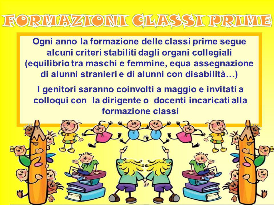 FORMAZIONI CLASSI PRIME