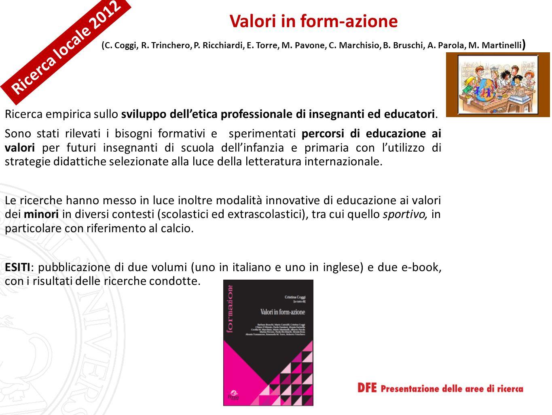 Valori in form-azione Ricerca locale 2012