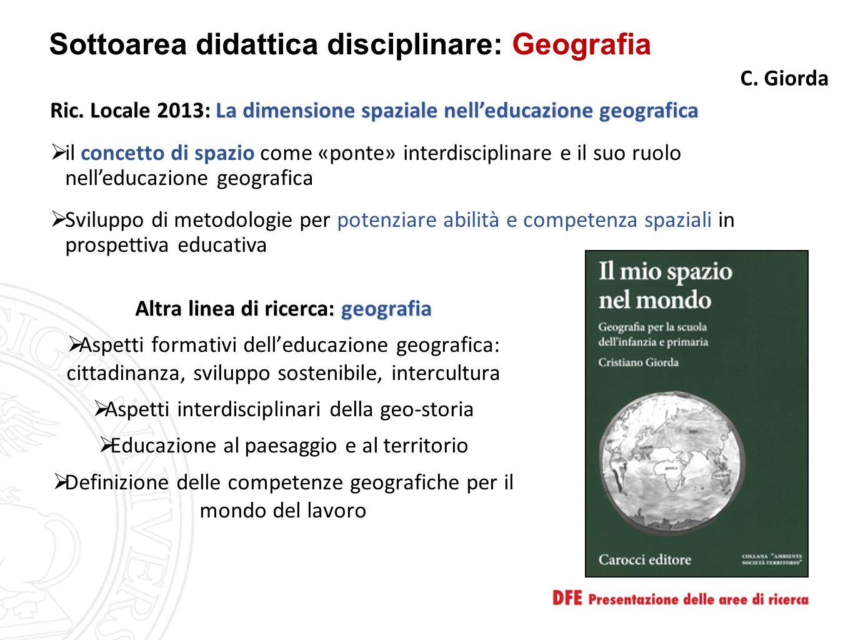 Sottoarea didattica disciplinare: Geografia