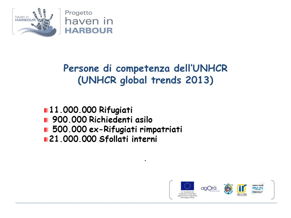 Persone di competenza dell'UNHCR (UNHCR global trends 2013)