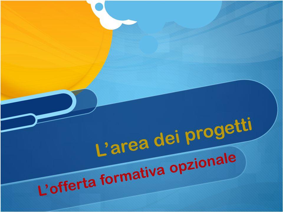 L'area dei progetti L'offerta formativa opzionale