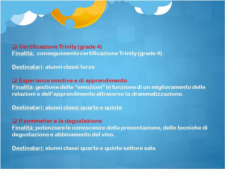 Certificazione Trinity (grade 4)