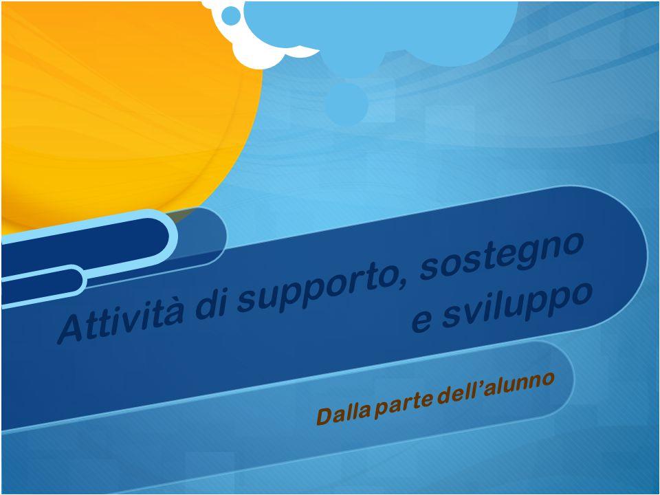 Attività di supporto, sostegno e sviluppo