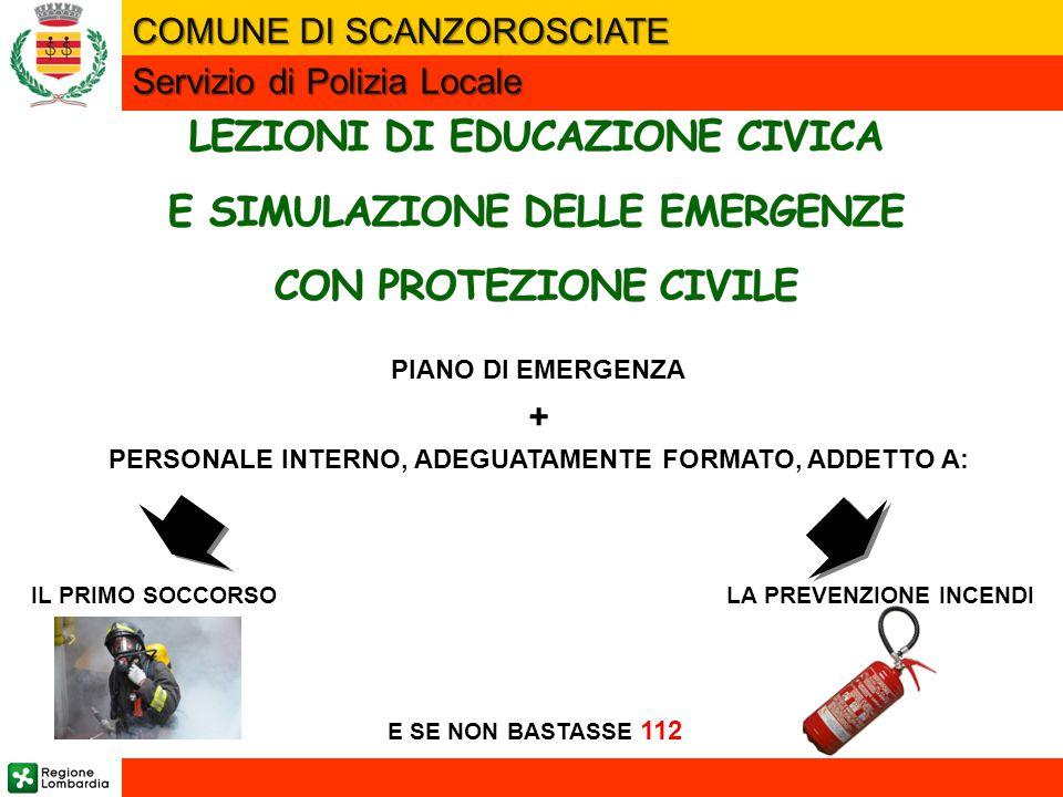LEZIONI DI EDUCAZIONE CIVICA E SIMULAZIONE DELLE EMERGENZE