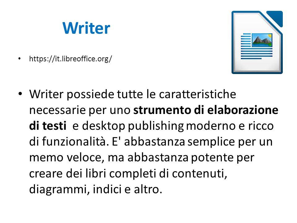 Writer https://it.libreoffice.org/