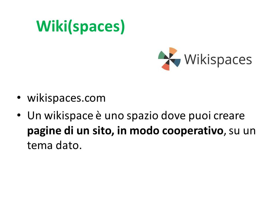 Wiki(spaces) wikispaces.com