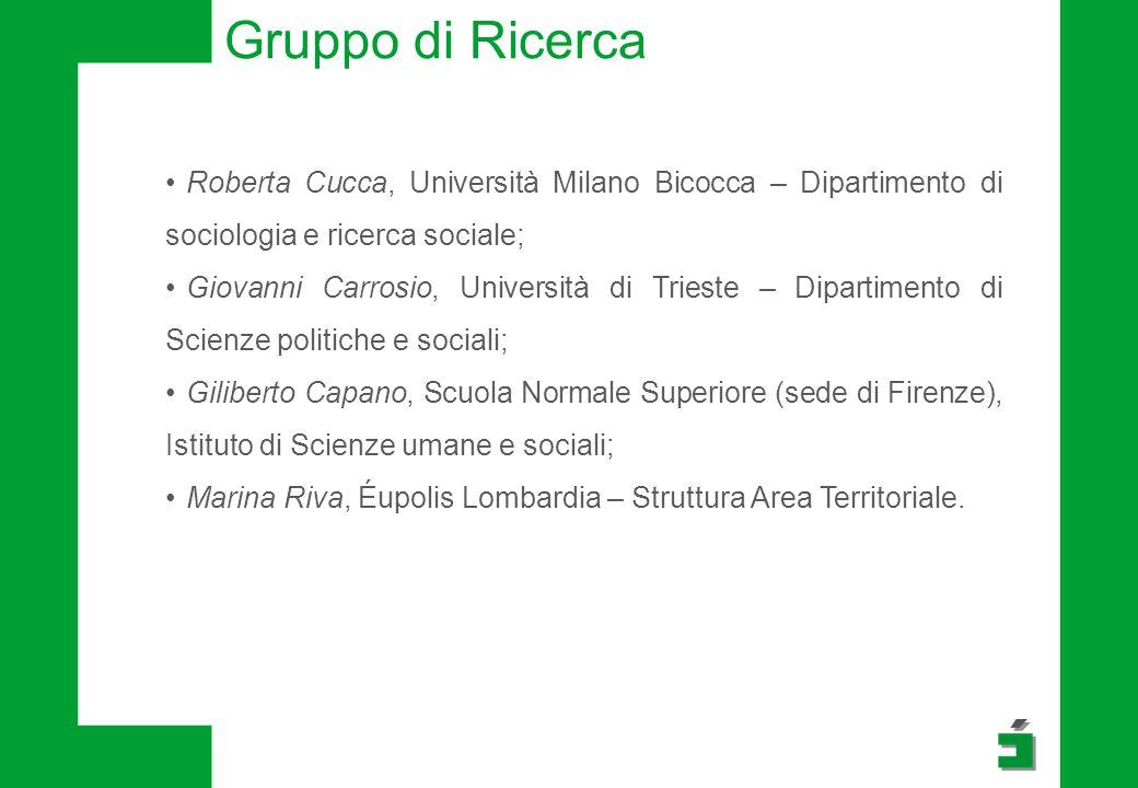 Gruppo di Ricerca Roberta Cucca, Università Milano Bicocca – Dipartimento di sociologia e ricerca sociale;