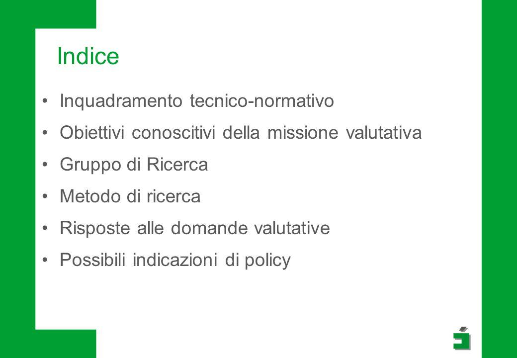 Indice Inquadramento tecnico-normativo