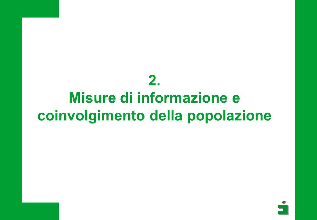 2. Misure di informazione e coinvolgimento della popolazione