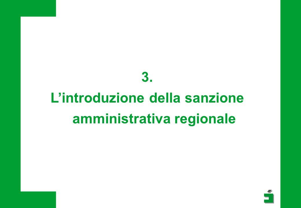 L'introduzione della sanzione amministrativa regionale