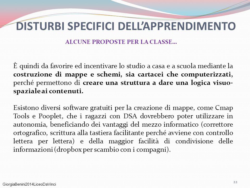 DISTURBI SPECIFICI DELL'APPRENDIMENTO ALCUNE PROPOSTE PER LA CLASSE…