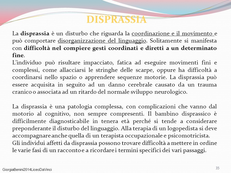 DISPRASSIA