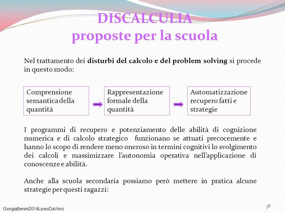 DISCALCULIA proposte per la scuola