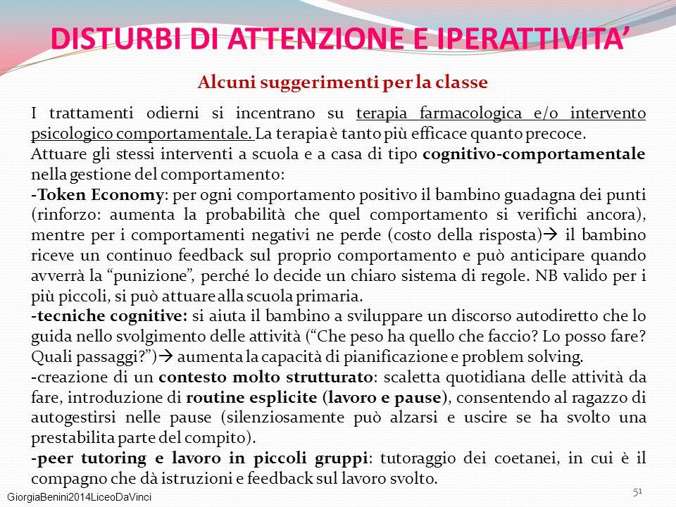 DISTURBI DI ATTENZIONE E IPERATTIVITA'