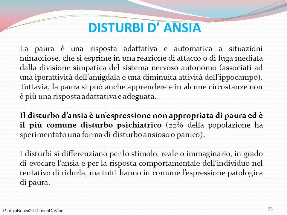 DISTURBI D' ANSIA