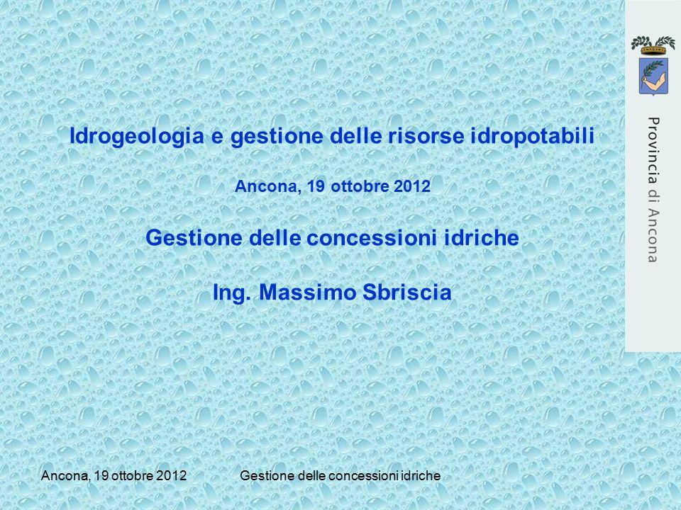 Idrogeologia e gestione delle risorse idropotabili