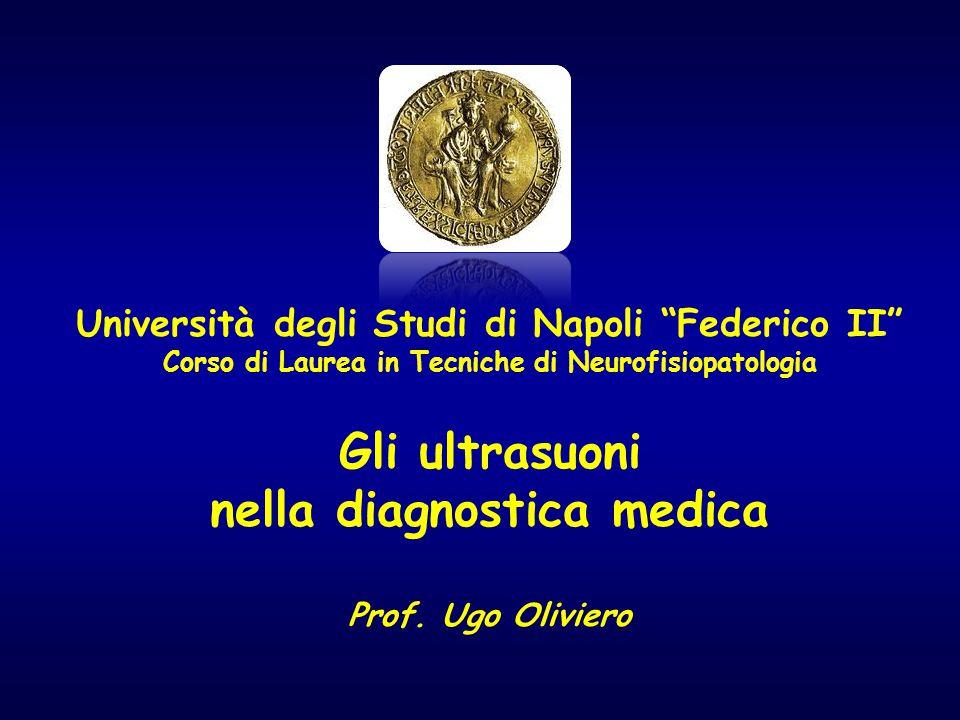 Università degli Studi di Napoli Federico II Corso di Laurea in Tecniche di Neurofisiopatologia Gli ultrasuoni nella diagnostica medica Prof.