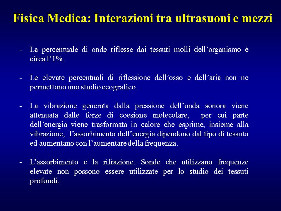 Fisica Medica: Interazioni tra ultrasuoni e mezzi