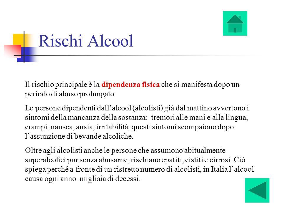 Marco Volpi Rischi Alcool. Il rischio principale è la dipendenza fisica che si manifesta dopo un periodo di abuso prolungato.