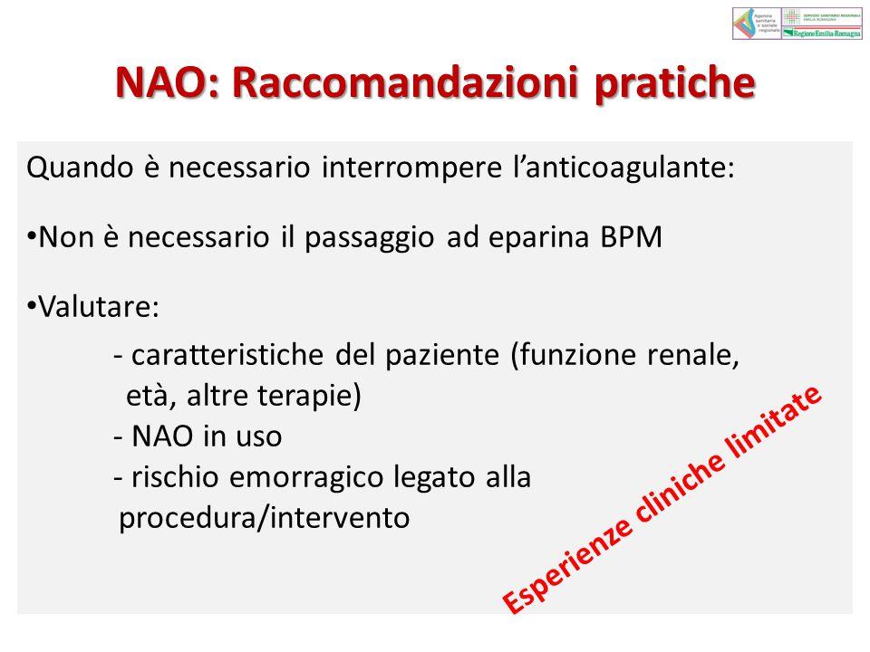 NAO: Raccomandazioni pratiche