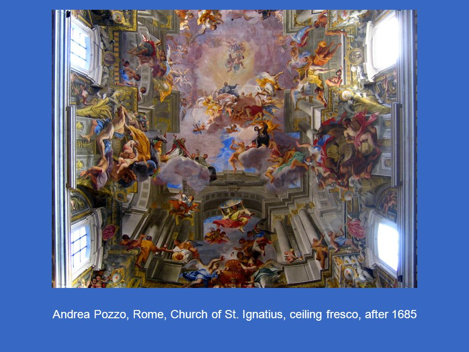 Andrea Pozzo, Rome, Church of St. Ignatius, ceiling fresco, after 1685