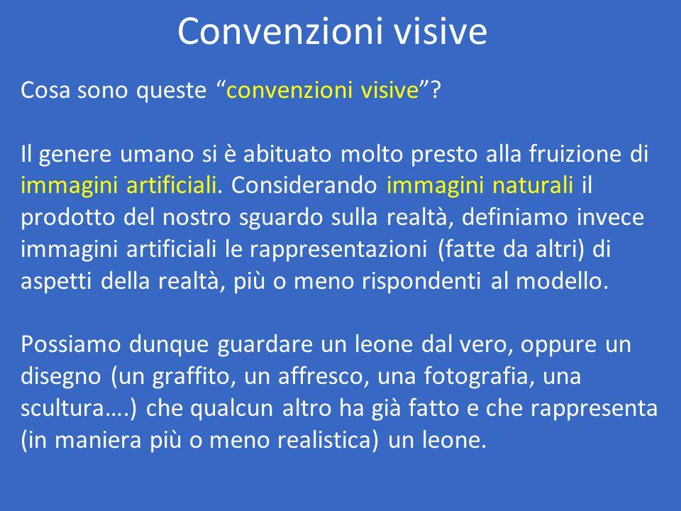 Convenzioni visive Cosa sono queste convenzioni visive