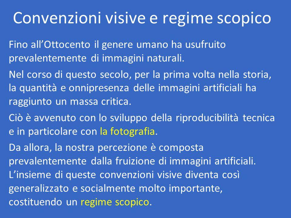 Convenzioni visive e regime scopico