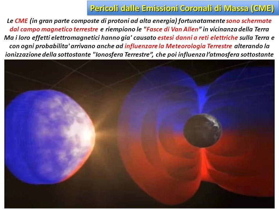 Pericoli dalle Emissioni Coronali di Massa (CME)