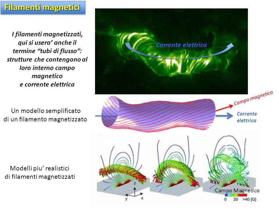Filamenti magnetici I filamenti magnetizzati, qui si usera' anche il