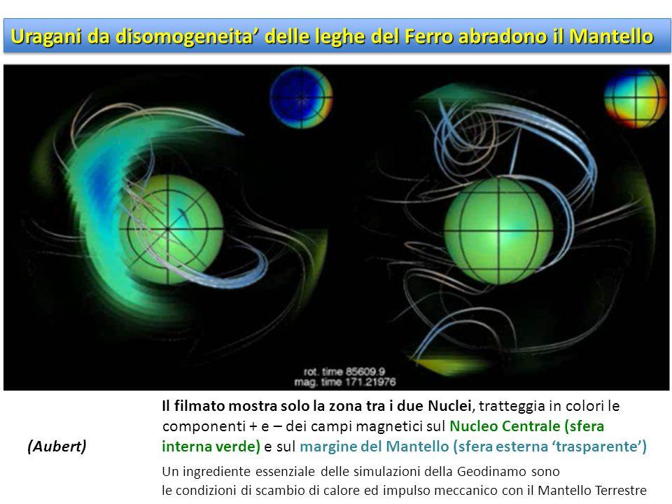 Uragani da disomogeneita' delle leghe del Ferro abradono il Mantello