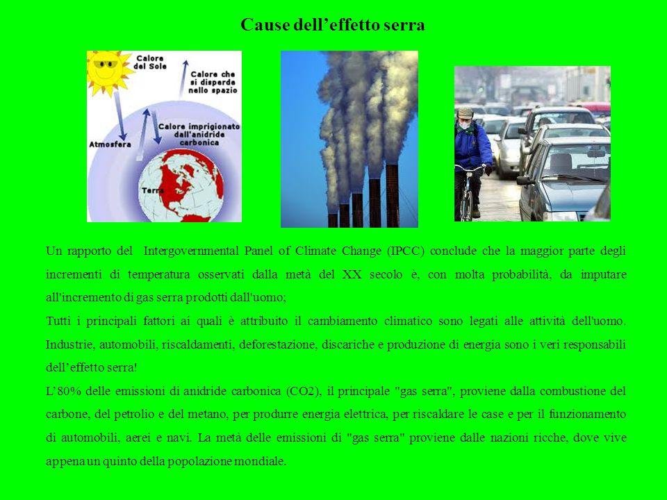Cause dell'effetto serra
