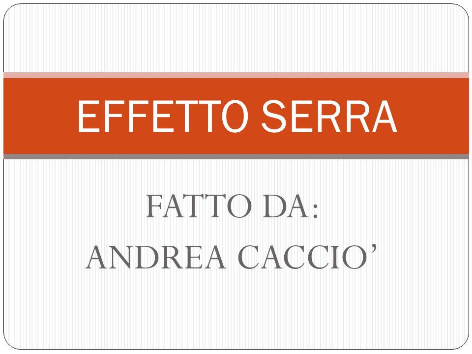 FATTO DA: ANDREA CACCIO'