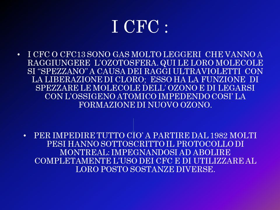 I CFC :