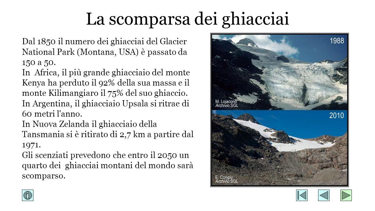 La scomparsa dei ghiacciai
