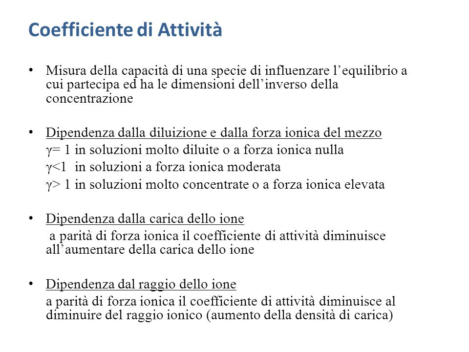 Coefficiente di Attività