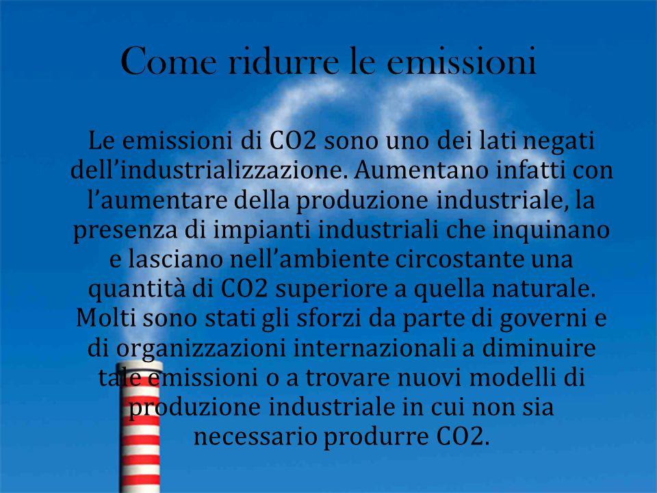 Come ridurre le emissioni