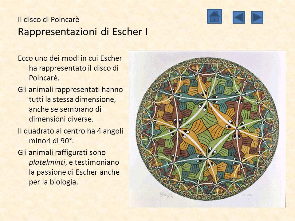 Il disco di Poincarè Rappresentazioni di Escher I