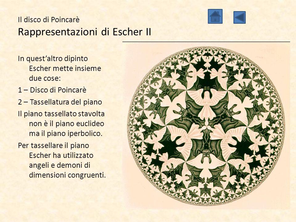 Il disco di Poincarè Rappresentazioni di Escher II