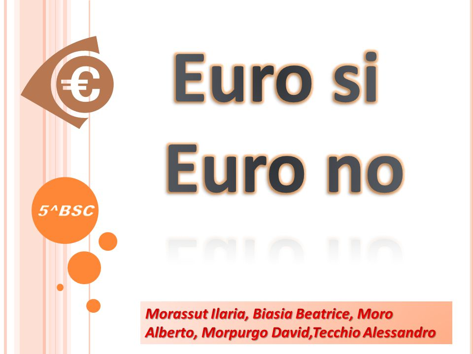 Euro si Euro no 5^BSC.