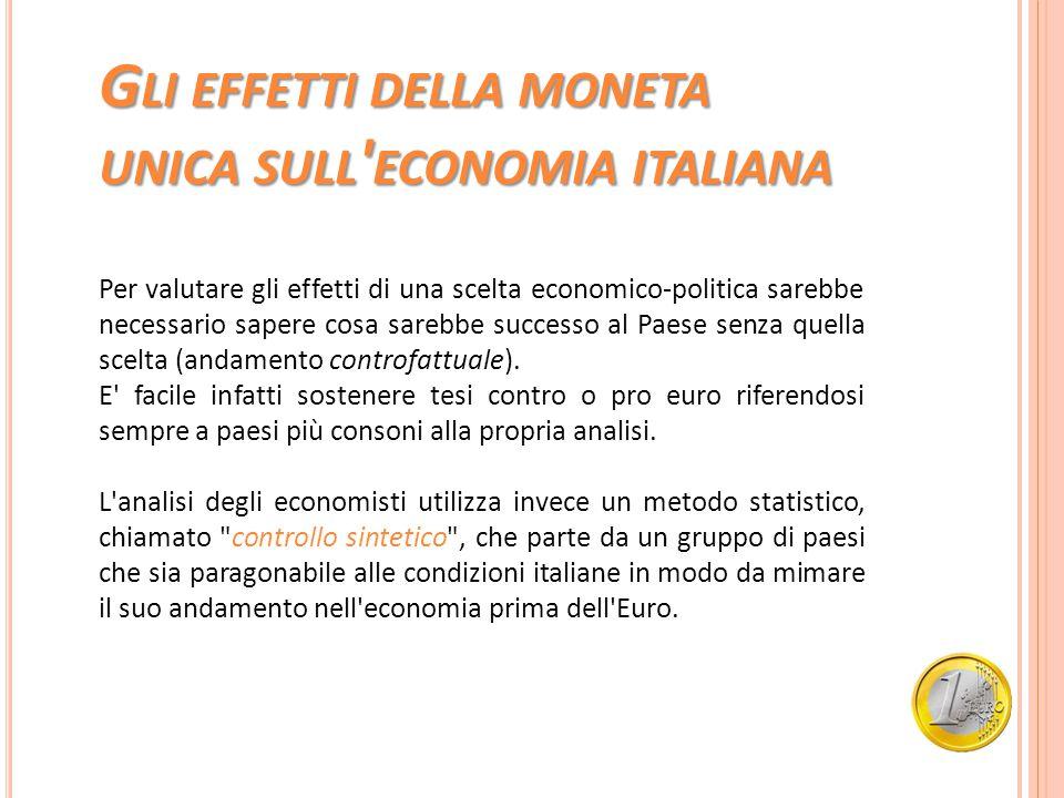 Gli effetti della moneta unica sull economia italiana