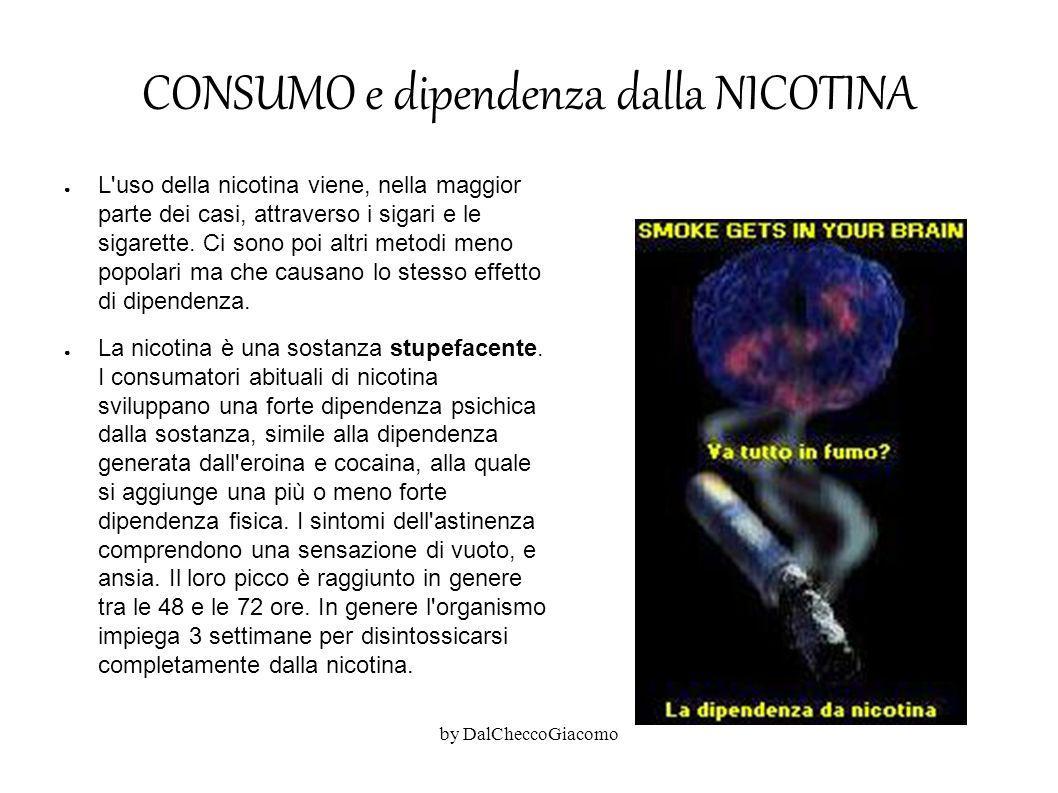 CONSUMO e dipendenza dalla NICOTINA