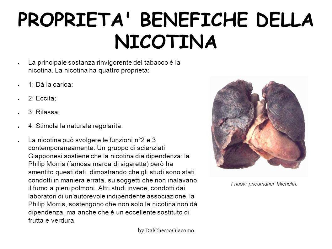 PROPRIETA BENEFICHE DELLA NICOTINA