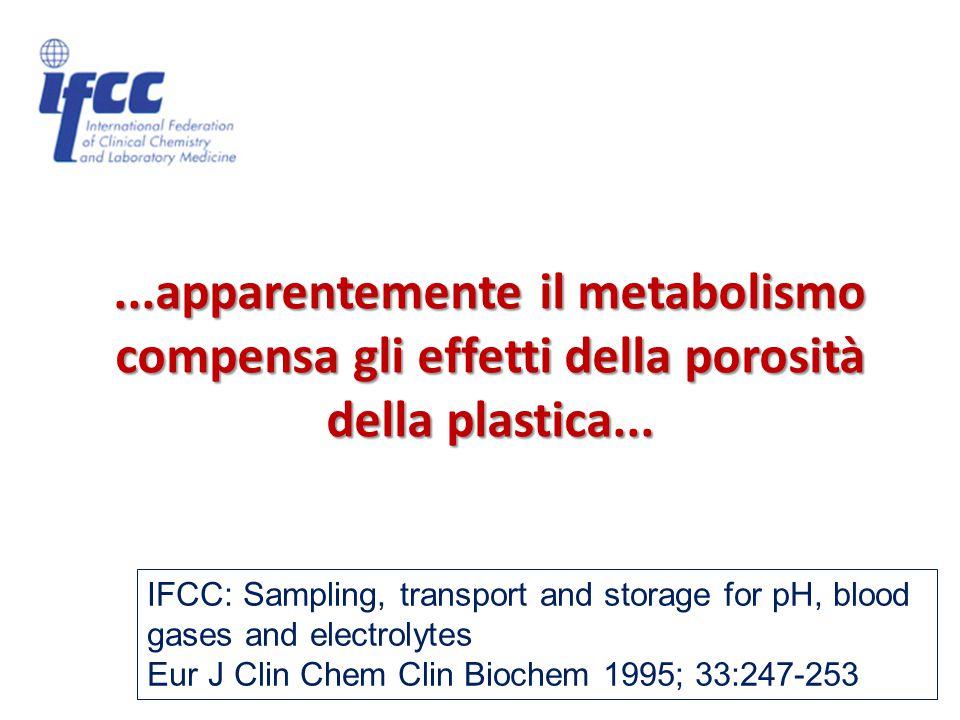 ...apparentemente il metabolismo compensa gli effetti della porosità della plastica...