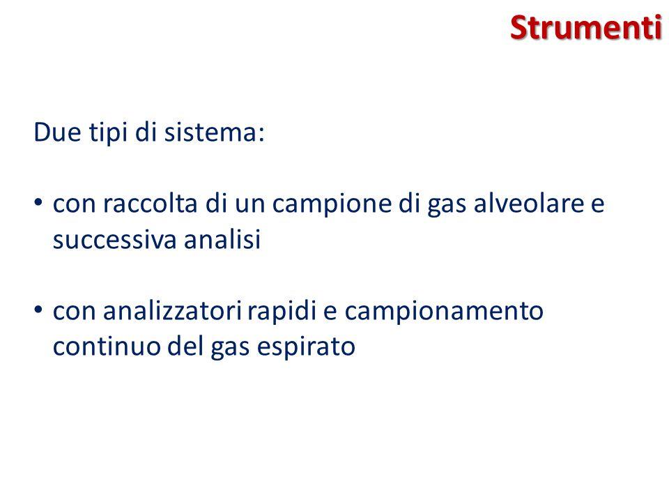 Strumenti Due tipi di sistema: