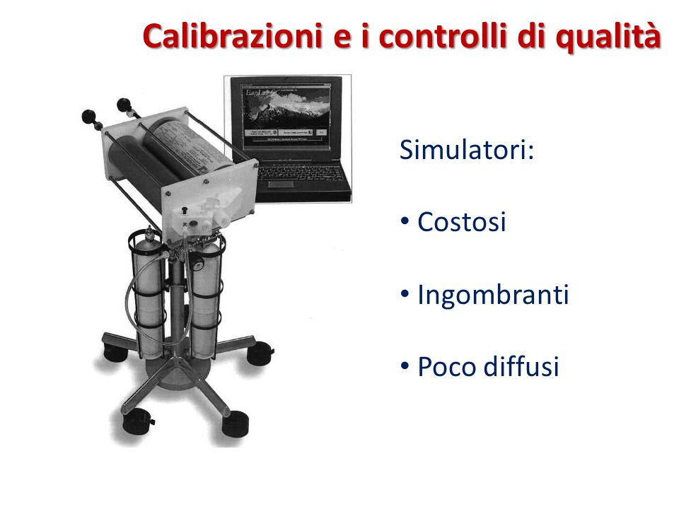 Calibrazioni e i controlli di qualità
