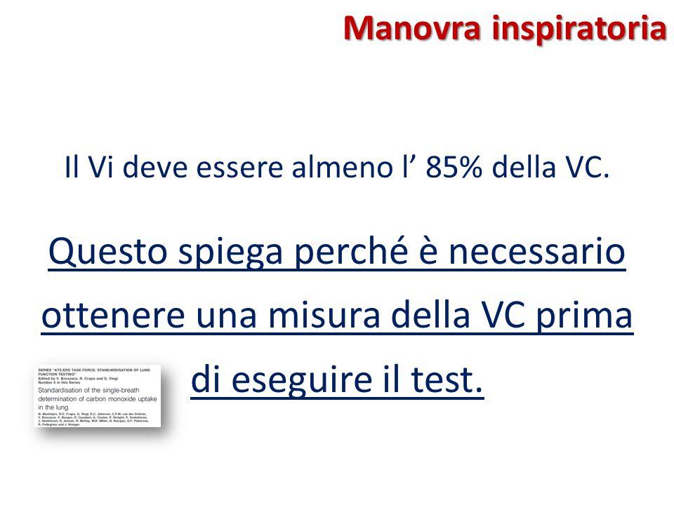 Il Vi deve essere almeno l' 85% della VC.
