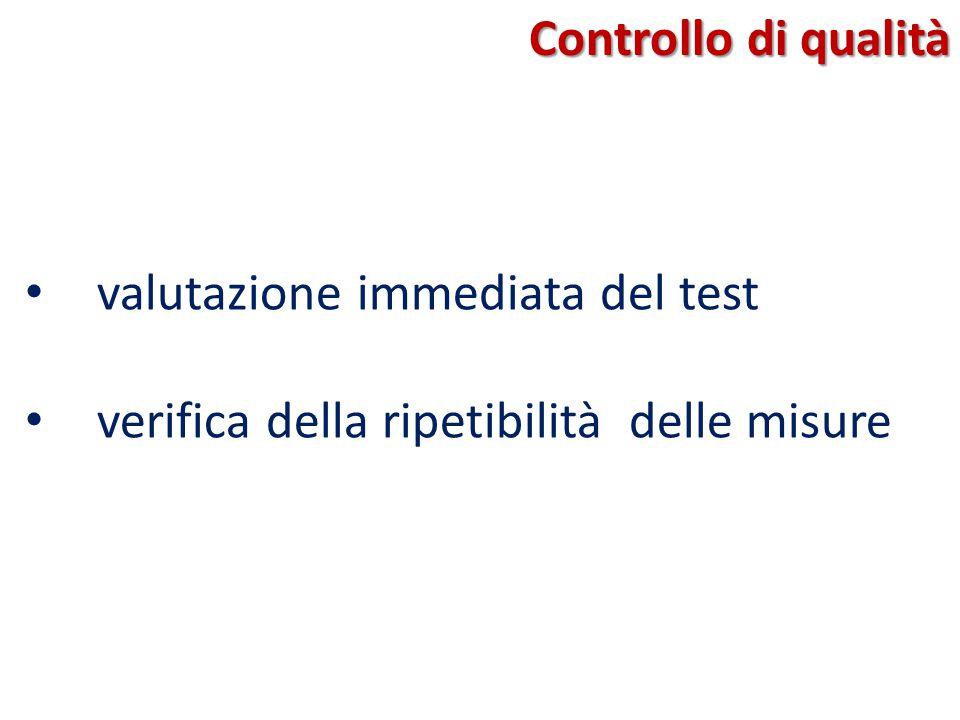 Controllo di qualità valutazione immediata del test verifica della ripetibilità delle misure