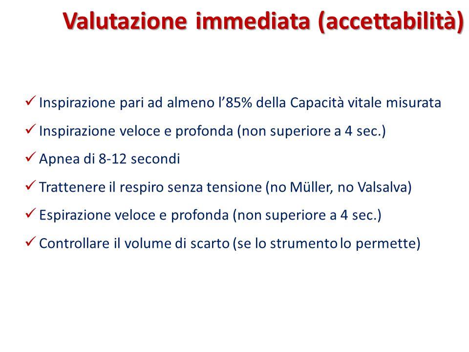 Valutazione immediata (accettabilità)
